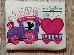 Valentine Love Train Applique Design ~ Cupid Driver